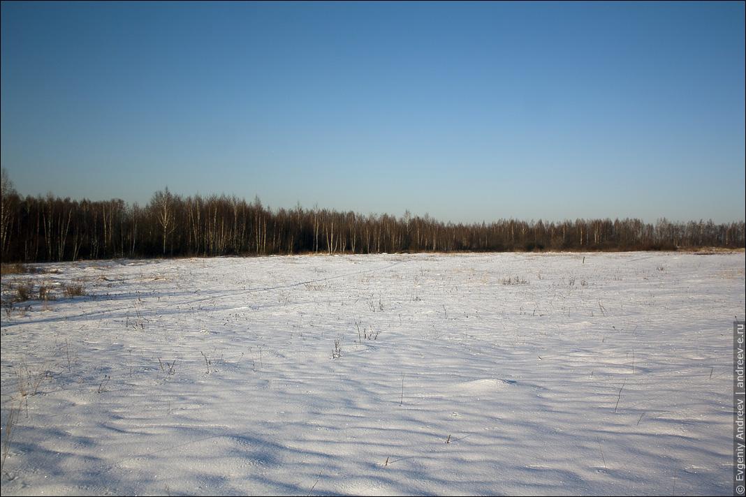 Поле зимой